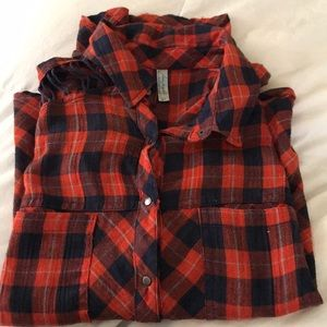 Free people button down flannel